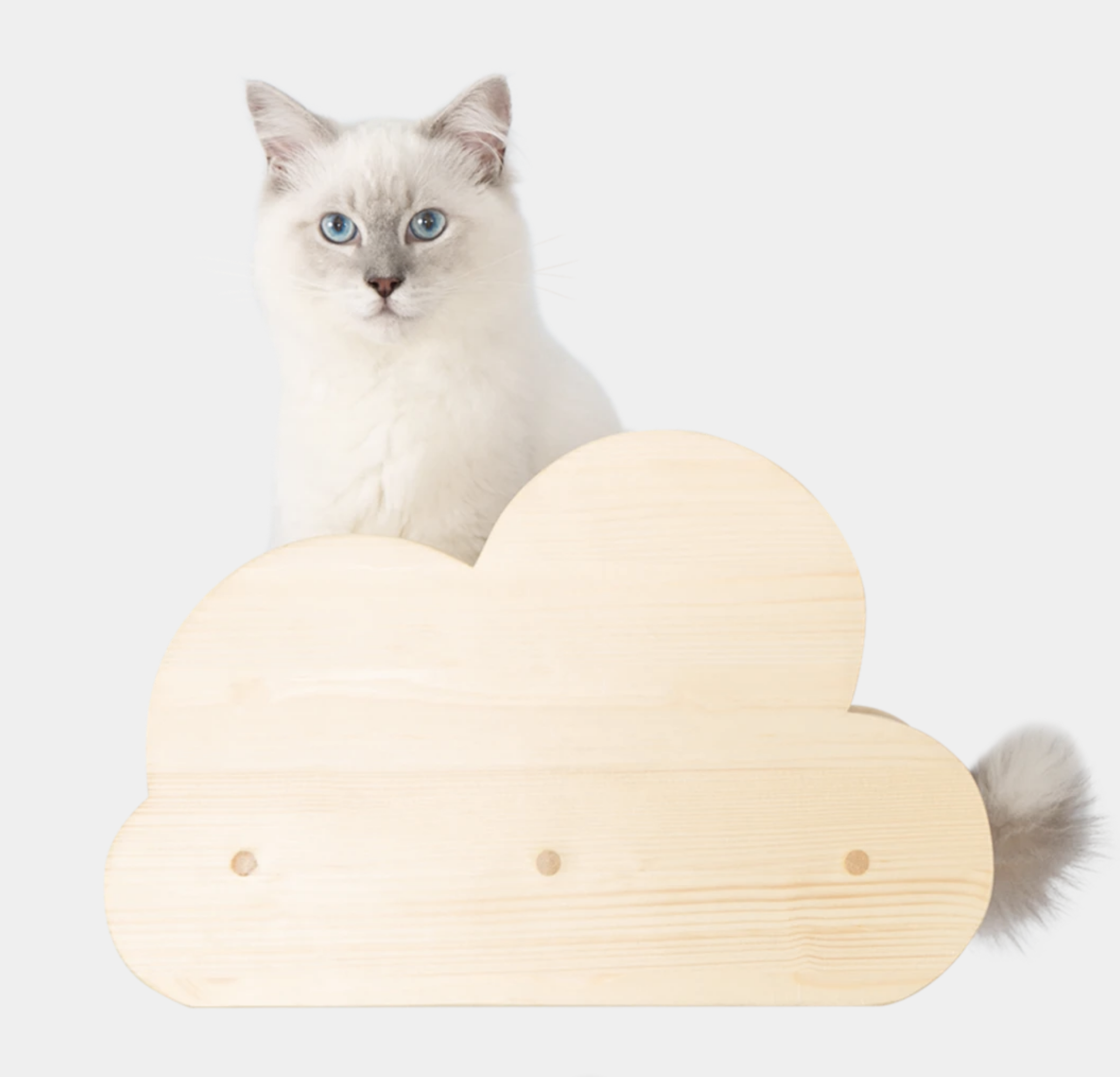 Moku wall mounted cat shelf