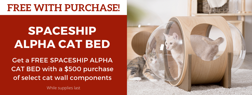 FREE with purchase spaceship Alpha Cat Bed