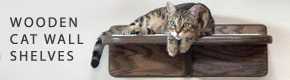 wooden cat wall shelves