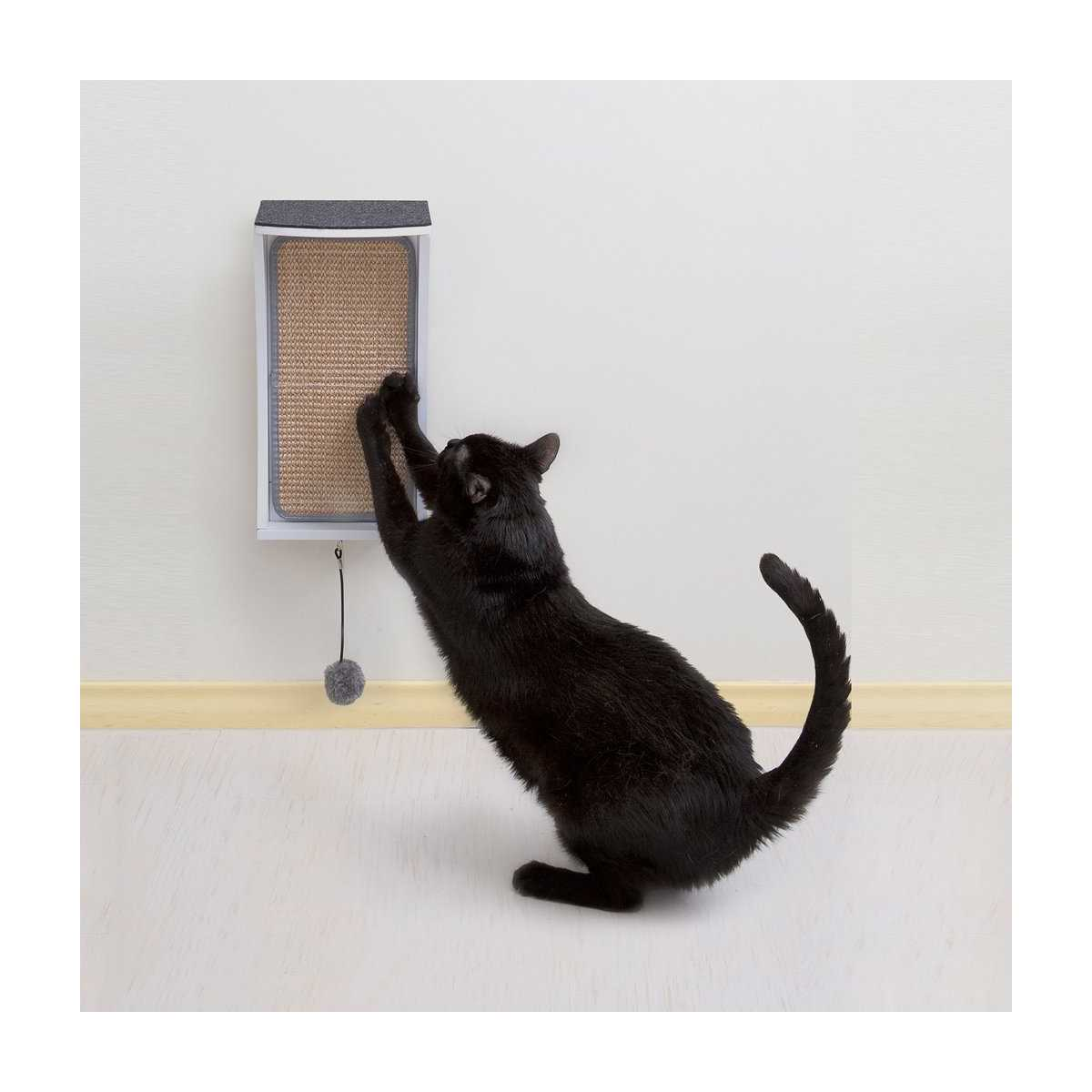 Catchall wall mounted cat scratcher perch storage - Wall mounted cat scratcher ...