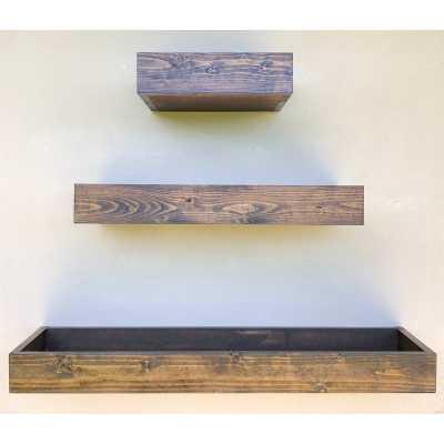 Rustic Wood Floating Cat Shelf