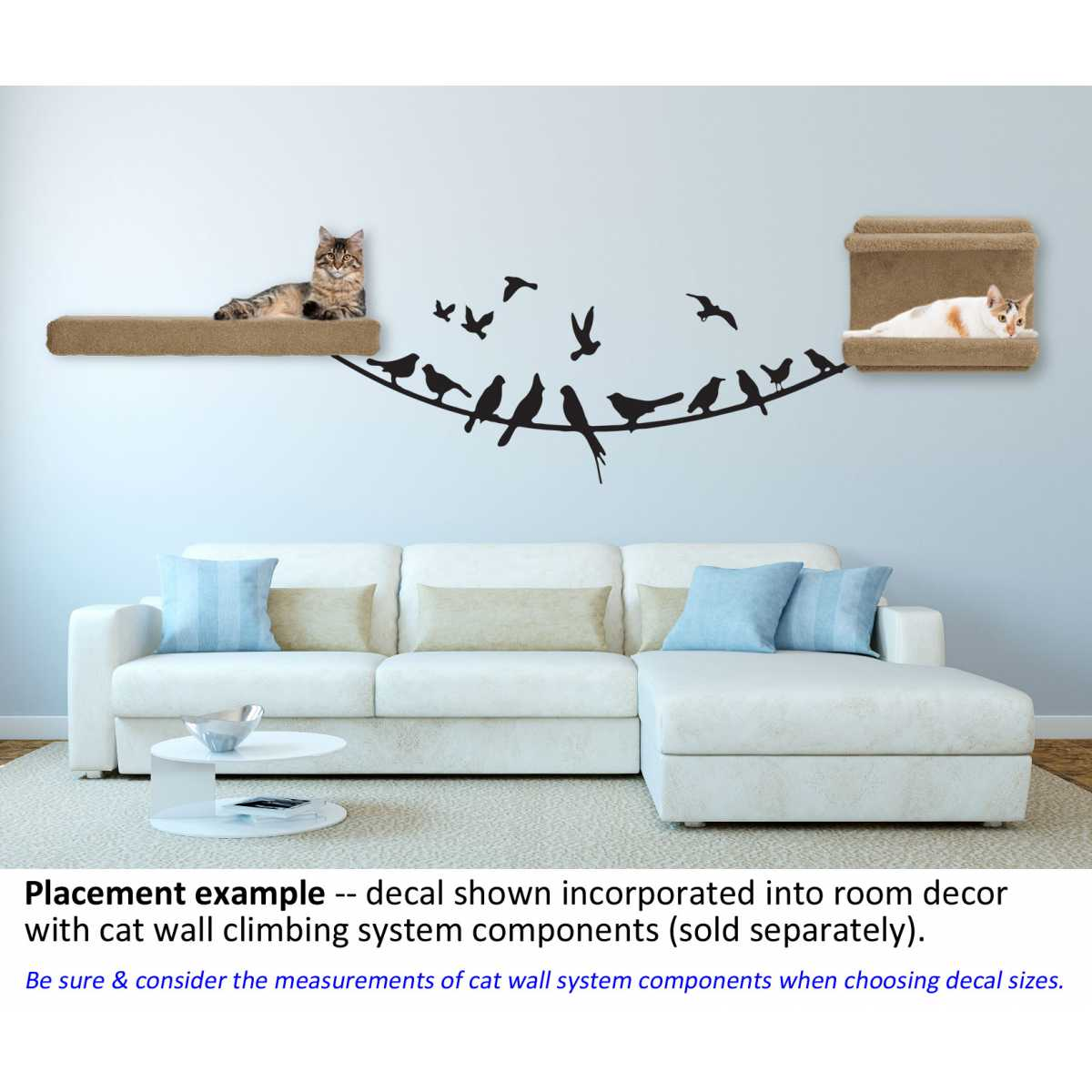 Themed wall accent decal birds on a wire cat themed wall accent decal birds on a wire amipublicfo Image collections