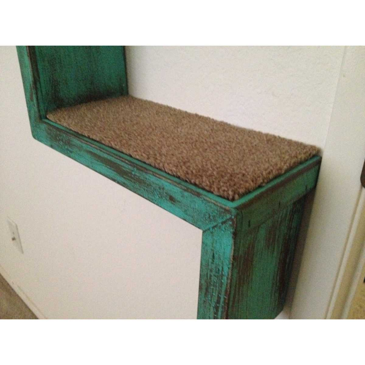 Artisan Made 2 Floating Cat Wall Stairs 1 Floating Cat Wall Bed