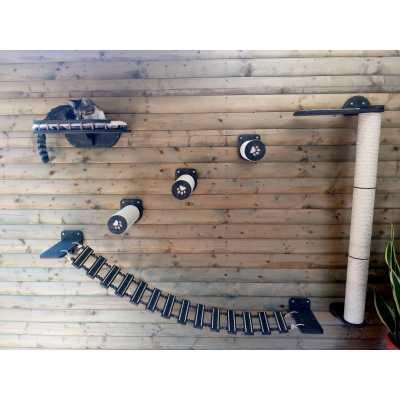 Bridge - Steps - Scratcher - Optional Shelf Cat Wall System