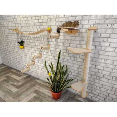 Bony Deluxe Cat Wall Mounted Lounge & Climb System