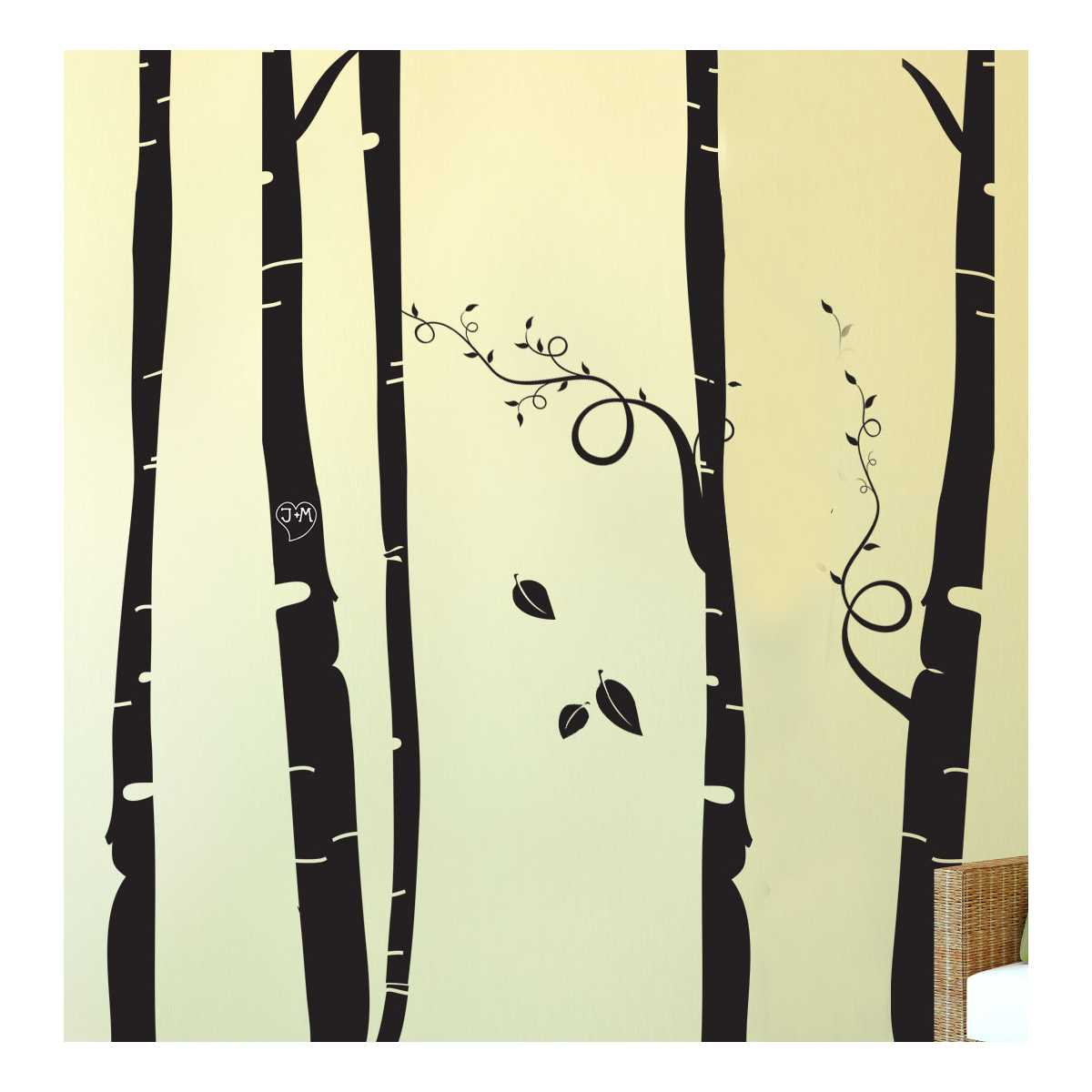 Themed Wall Accent Decal - Birch Tree Forest