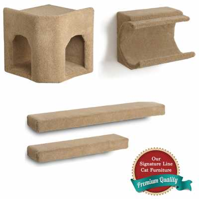 Kitty Corner Hideaway + Cradle + 2 Ramps Cat Wall Climbing Package