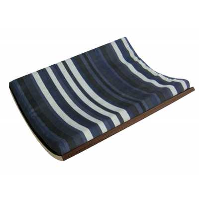 Curve Wall Cat Bed - Walnut/Stripe
