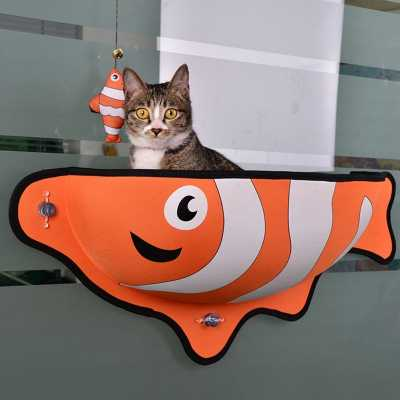 Fish Themed Cat Window Lounge Bed