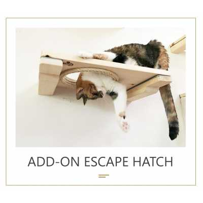 18 inch Escape Hatch - Wall Mounted for Cats