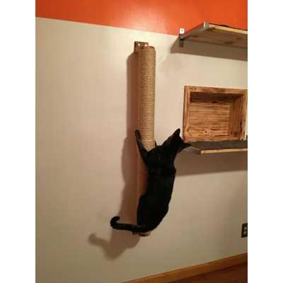 Sisal Wall Mounted Cat Scratcher & Climber Pole