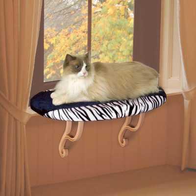K&H Deluxe Kitty Sill Perch Zebra KH9096