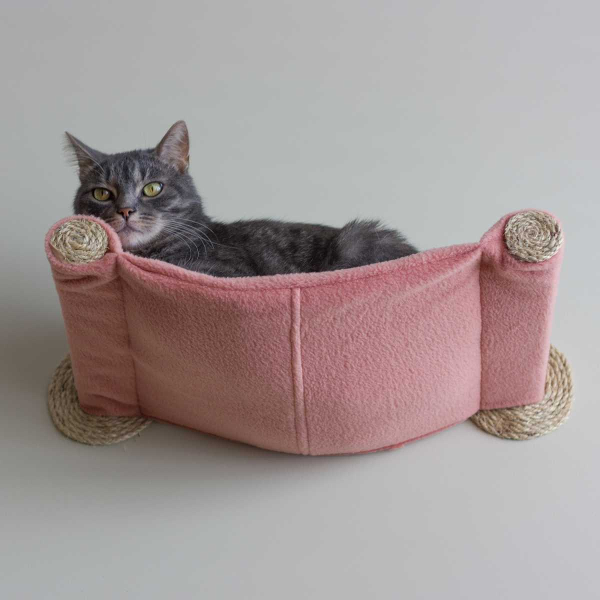 Cat Hammock Wall Mounted Cat Bed Salmon