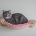 Cat Hammock - Wall Mounted Cat Bed - Salmon