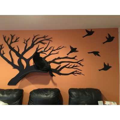 Wall Mounted Cat Tree Artisan Perch Catwallshelves