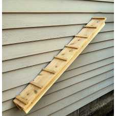 Outdoor Cedar Cat Wall System: 44 Inch Ramp