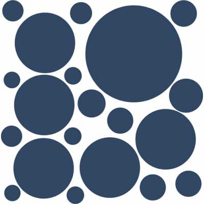 Cat Themed Wall Accent Decal - Dots & Circles
