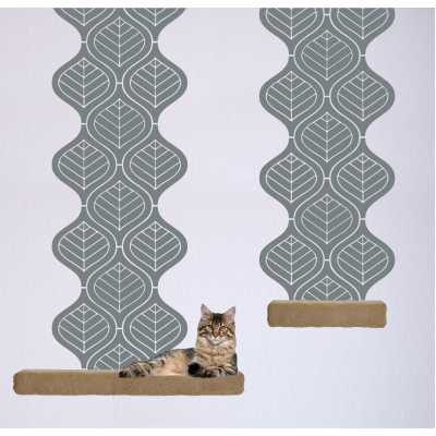 Cat Themed Wall Accent Decal - Leaf Accent Runner