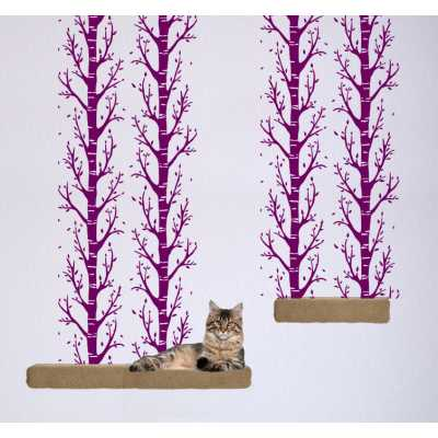 Cat Themed Wall Accent Decal - Trees Accent Runner