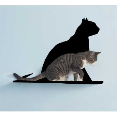 Cat Silhouette Cat Shelf - Gaze