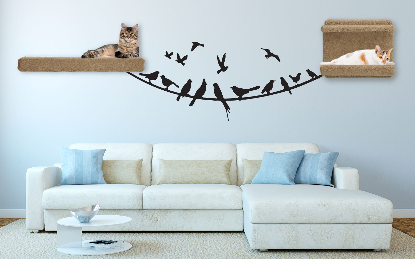 Now That You Ve Installed Your Cat Wall Shelves Consider Accessorizing By Adding Coordinated Fun Themed Decals